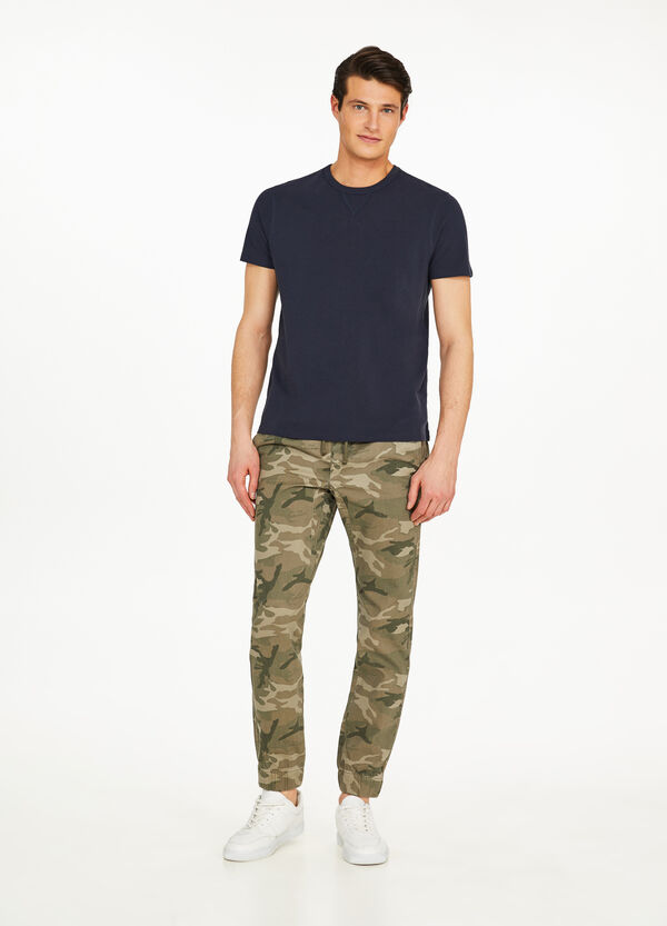 Hose Joggers Fit Baumwolle Camouflage