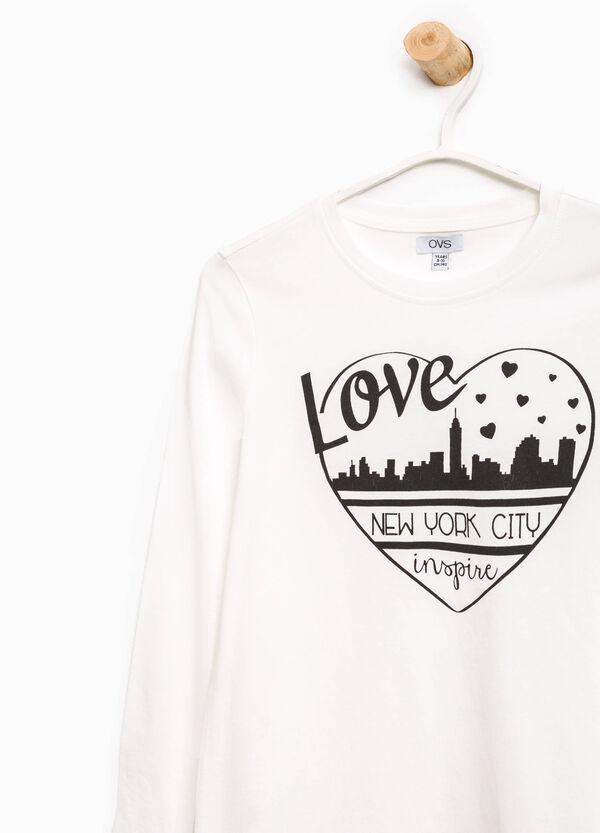 T-Shirt mit Aufdruck aus reiner Baumwolle | OVS