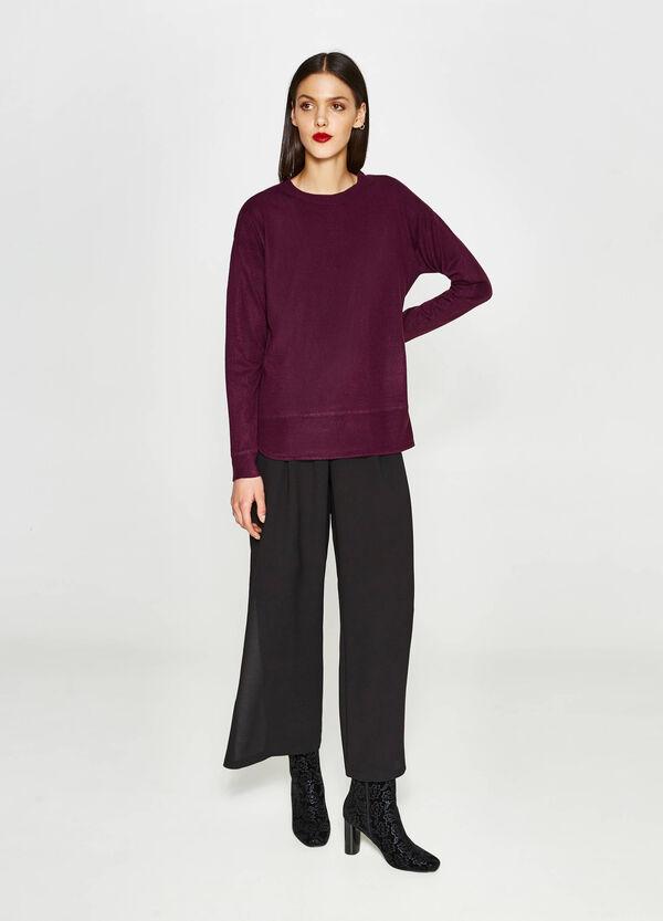 Einfarbiger Pullover mit Trikot-Verarbeitung | OVS