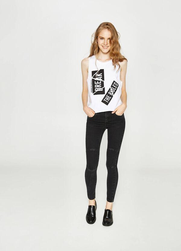 Stretch-Jeans Skinny Fit Nähte | OVS