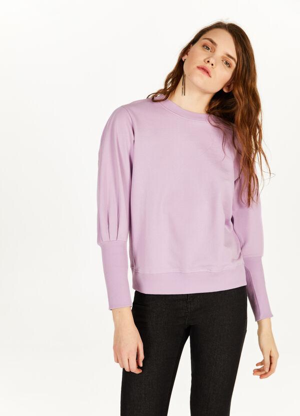 Sweatshirt reine Baumwolle mit Fältelungen