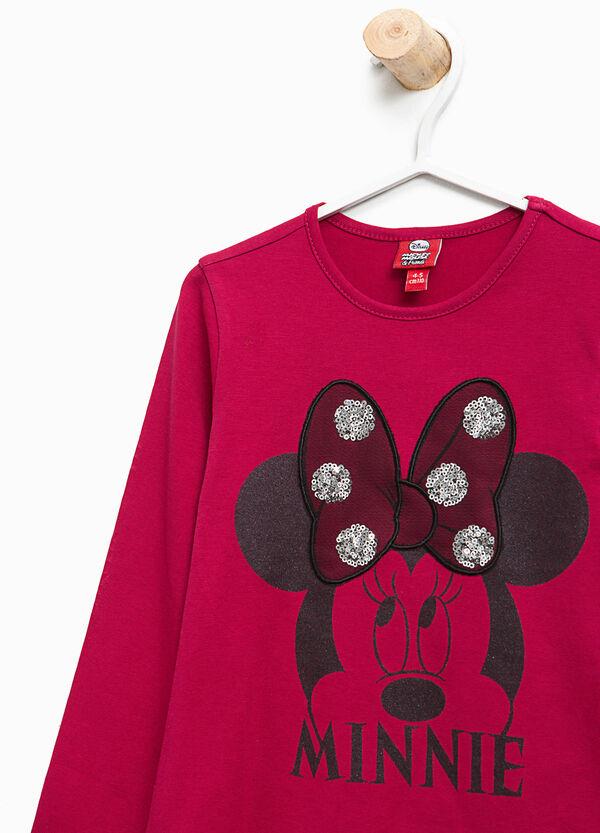 T-Shirt Aufdruck Minnie mit Pailletten   OVS