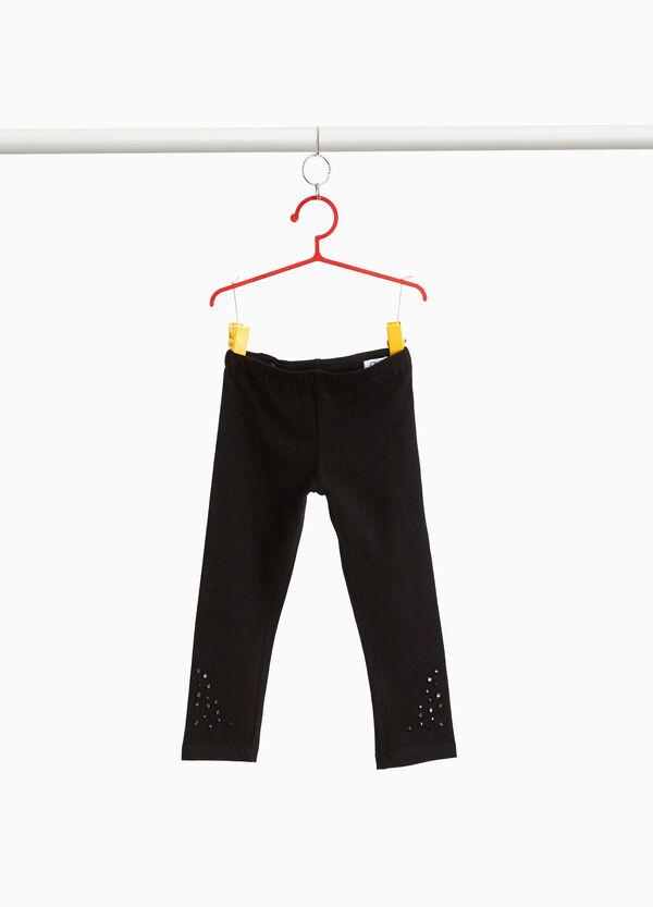 Leggings Baumwollstretch mit Nieten