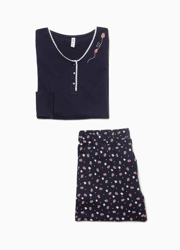 Pyjama reine Baumwolle Marienkäfer