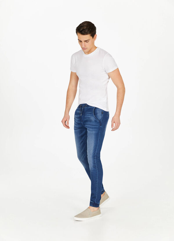 Jeans Jogger Fit Stretch Used-Effekt