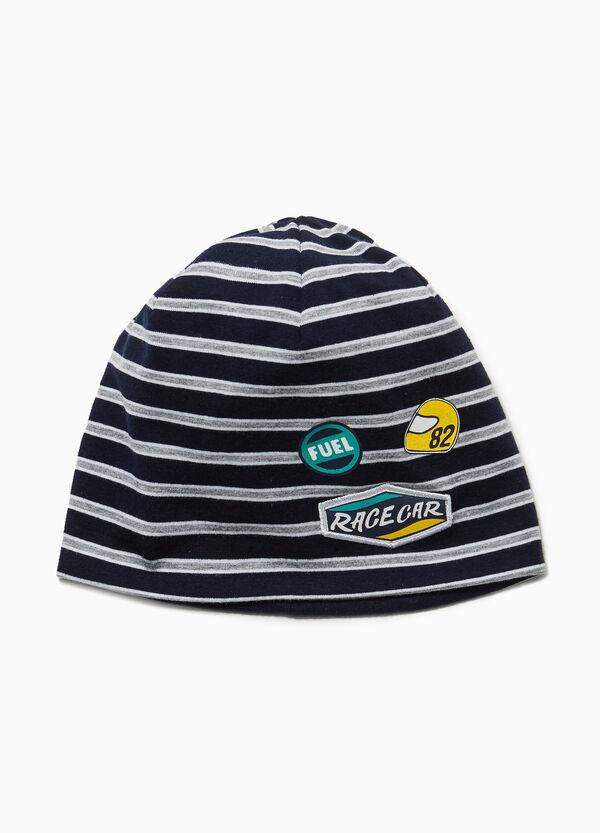 Mütze Jersey gestreift