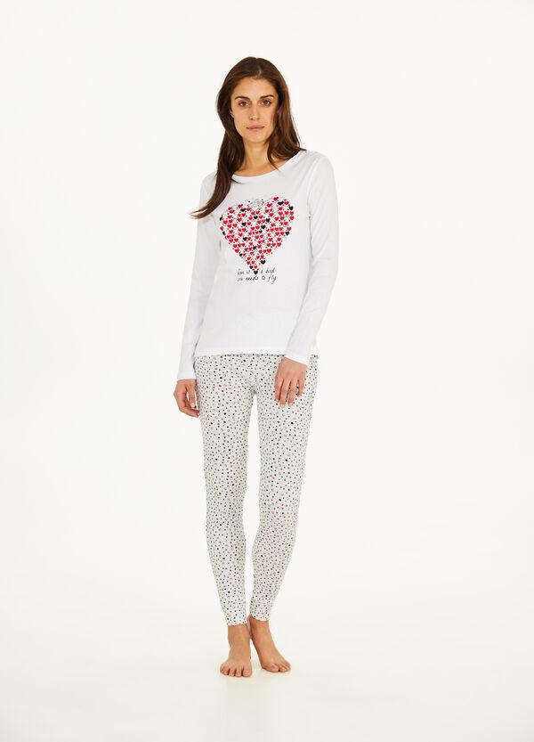 Pyjama Baumwolle Herzmuster