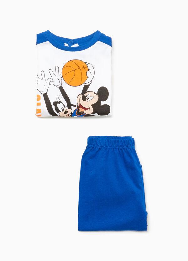 Pyjama Baumwolle Mickey Mouse und Pluto
