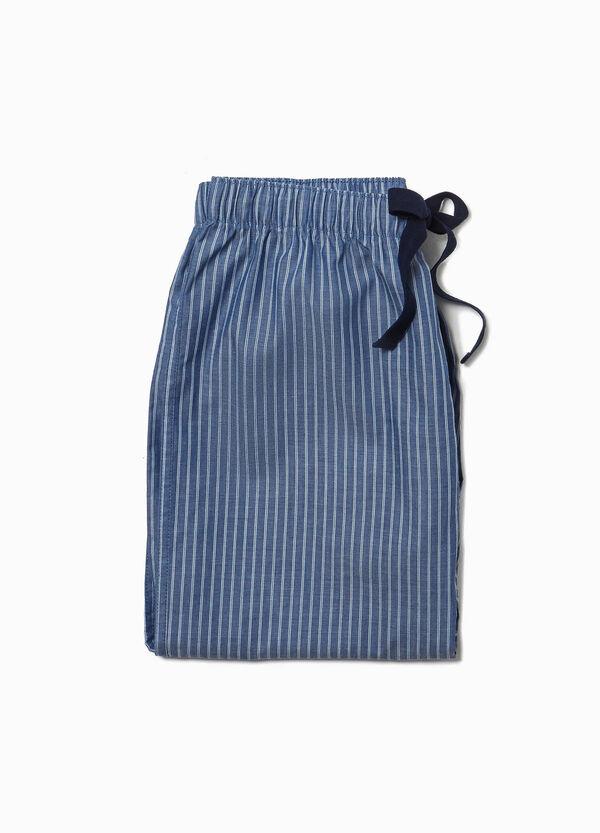 Pyjamahose Muster aus Baumwoll-Mix