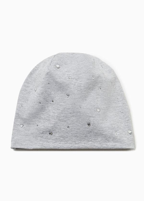 Mütze meliert mit Strass