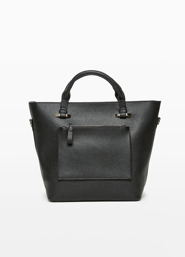 Handtasche mit Taschen-Applikation