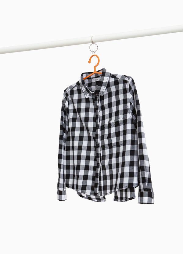 Kariertes Hemd aus reiner Baumwolle