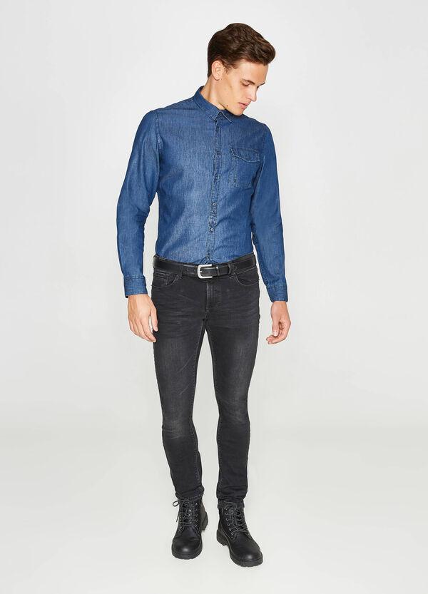 Lässiges Hemd Slim Fit aus Jeans Tasche | OVS