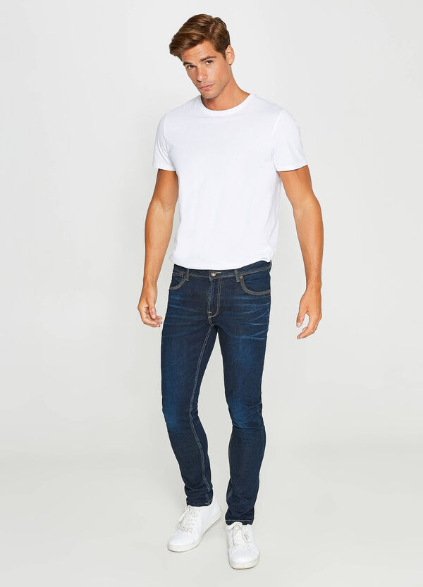 Stretch-Jeans Skinny Fit mit Whiskering | OVS