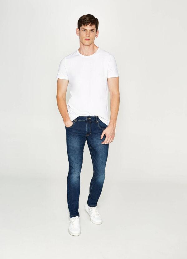 Stretch-Jeans Slim Fit mit Used-Effekt | OVS
