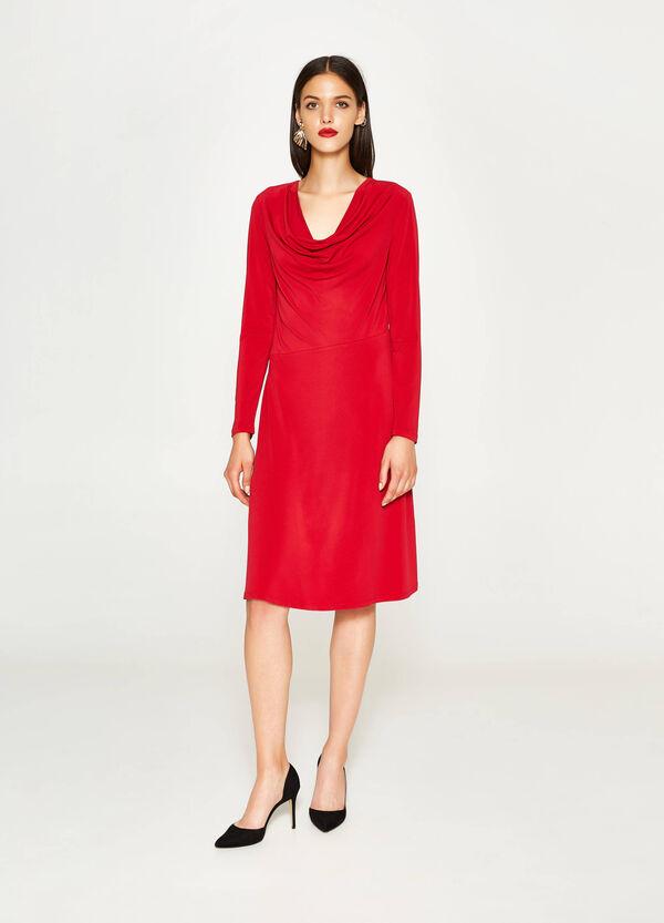 Stretch-Kleid mit weichem V-Ausschnitt | OVS