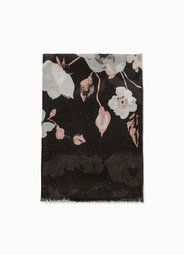 Schal floral gesteppt