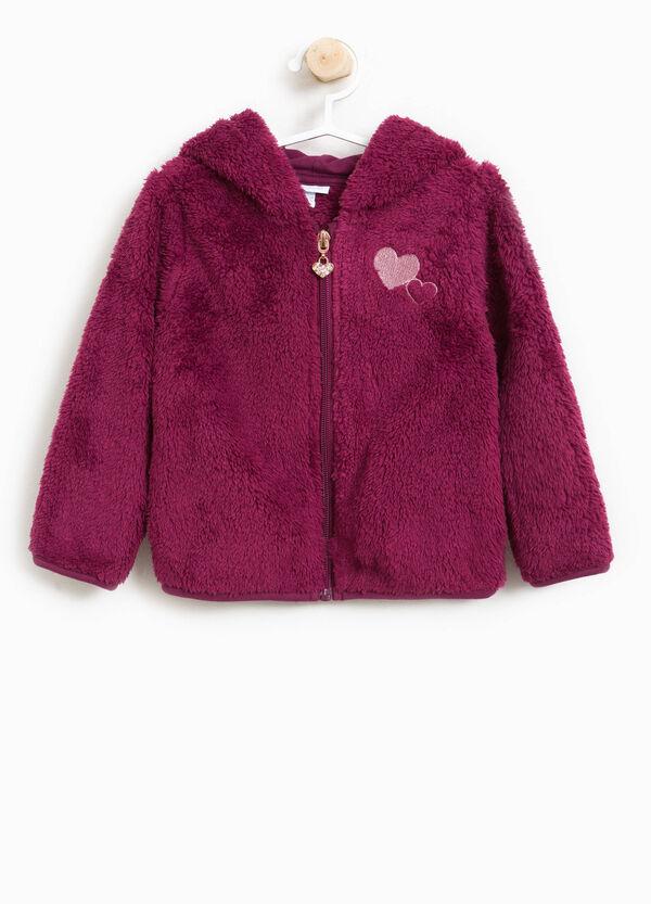 Sweatshirt Fake Fur mit Kapuze
