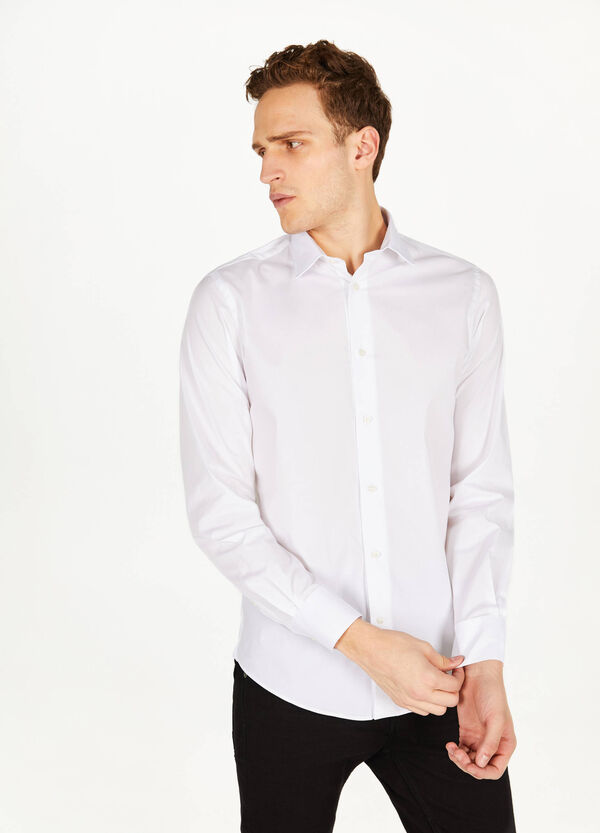 Formales Hemd Slim Fit einfarbig