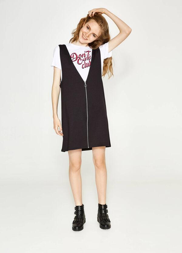 Kleid aus Viskose mit großem V-Ausschnitt | OVS