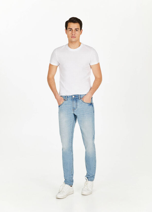 Jeans Straight Fit Used mit Whiskering