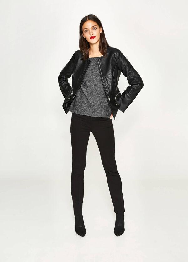 Glitter-Pullover aus Baumwolle und Wolle | OVS