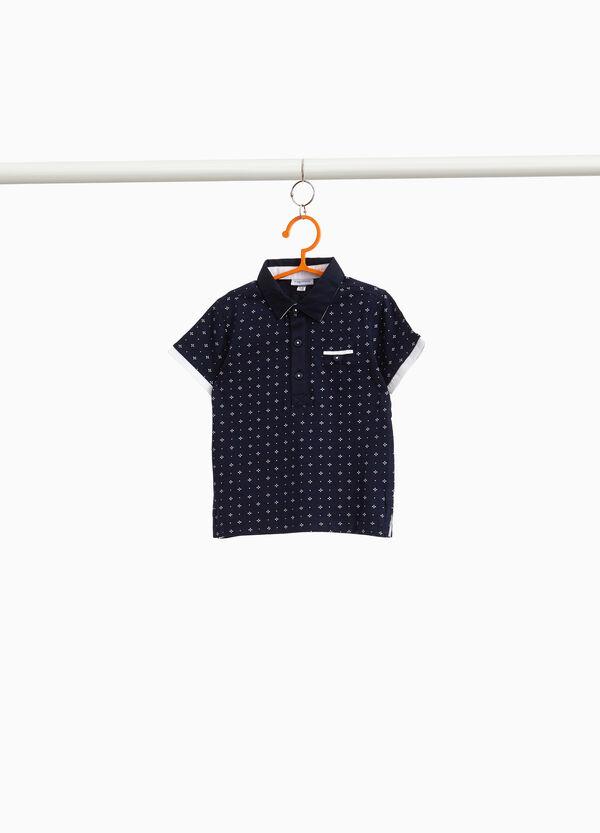 Polo-Shirt aus reiner Baumwolle All-over-Aufdruck