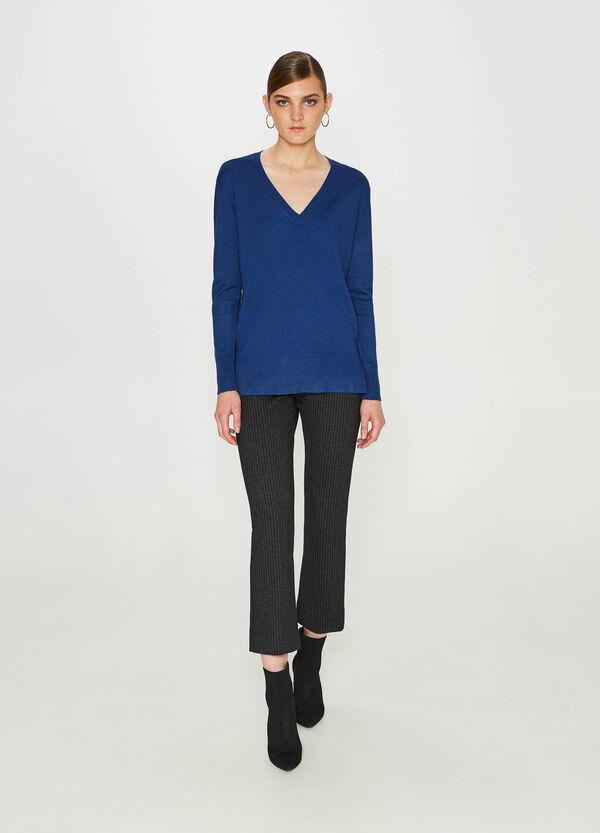 Pullover aus Viskosemix V-Ausschnitt | OVS