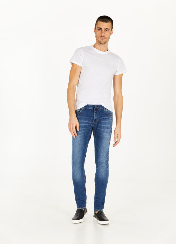 Stretch-Jeans Slim Fit mit entfärbter Optik