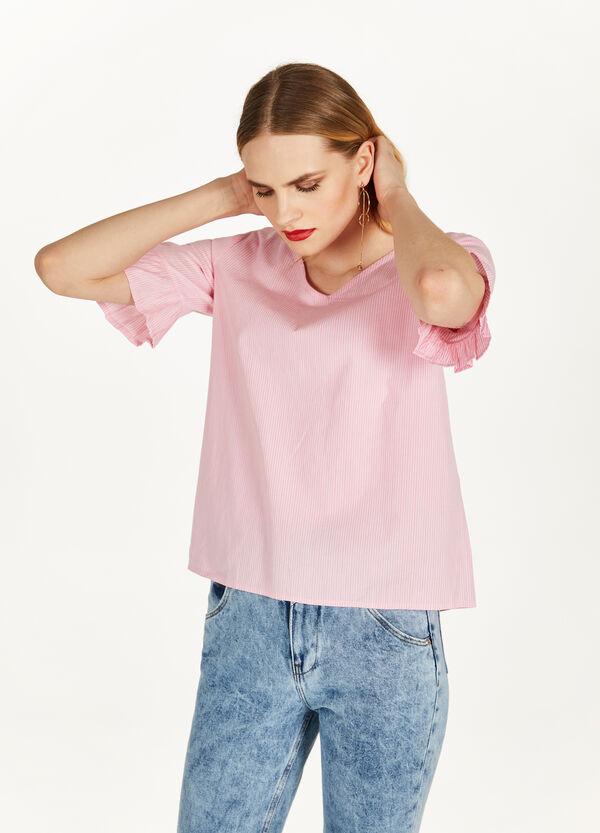 Bluse aus reiner Baumwolle Muster