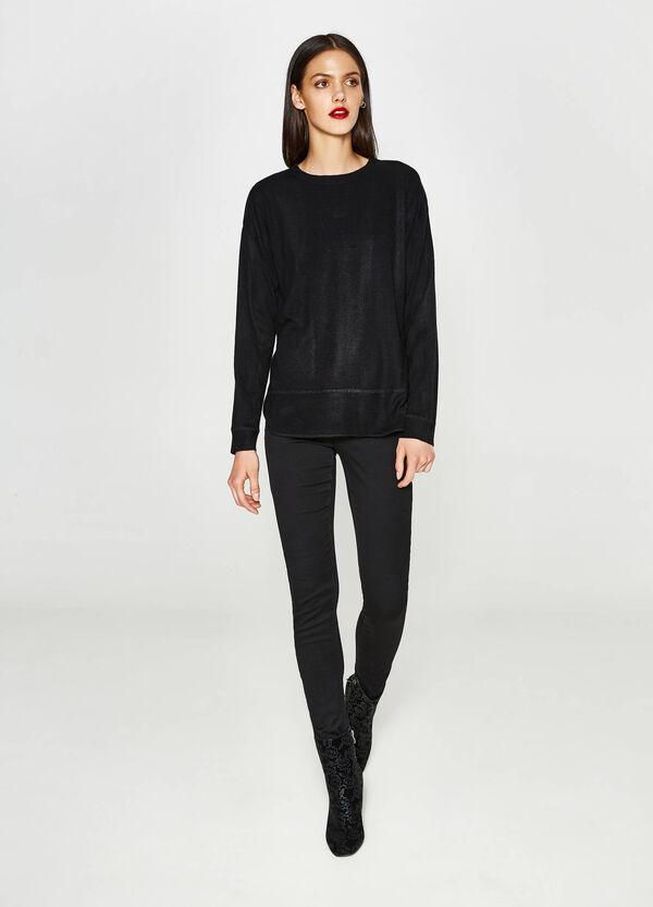 Einfarbiger Pullover mit Trikot-Verarbeitung   OVS