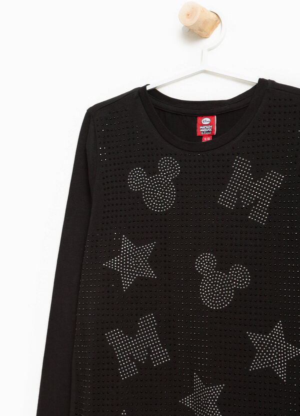 T-Shirt Stretch Strass Mickey Mouse | OVS