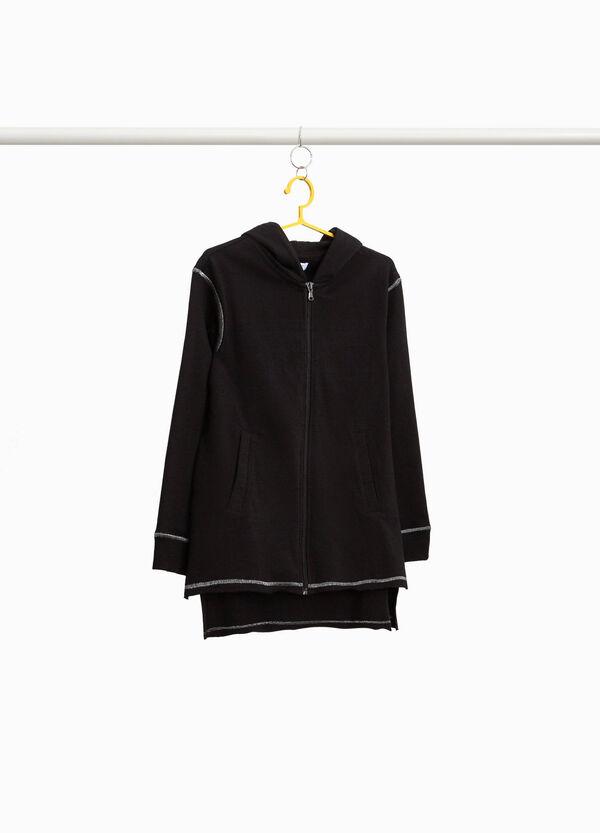 Asymmetrisches langes Sweatshirt mit Nähten