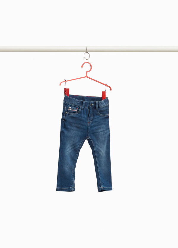 Stretch-Jeans Used-Effekt Whiskering