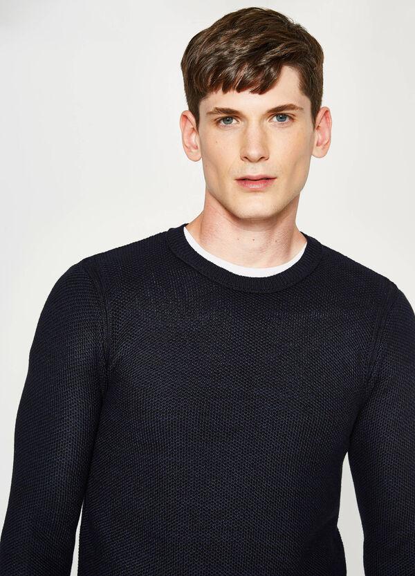 Trikot-Pullover aus Baumwoll-Mix