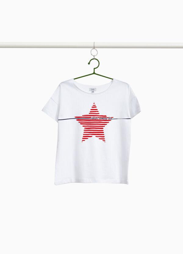 T-Shirt reine Baumwolle Sternaufdruck