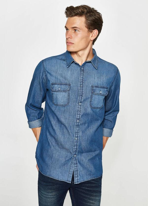Lässiges Jeans-Hemd mit kleinen Taschen | OVS