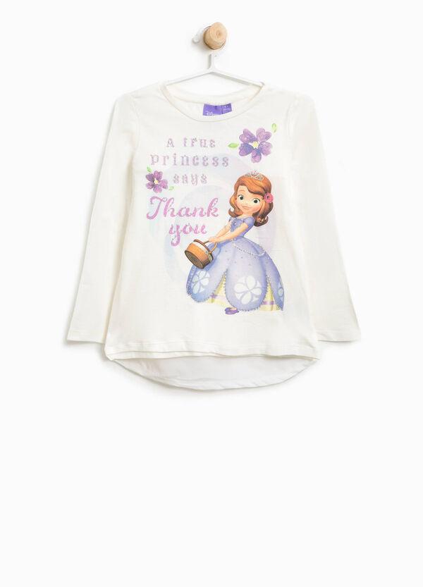 T-Shirt aus Baumwolle Aufdruck Prinzessin Sofia   OVS