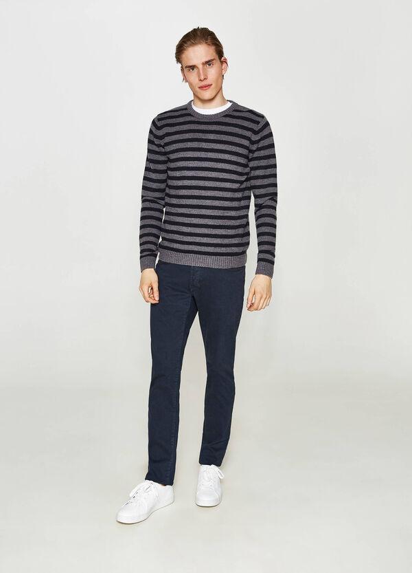 Einfarbige Stretch-Hose Slim Fit | OVS