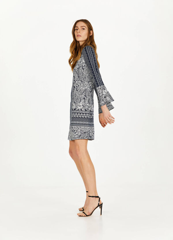 Stretch-Kleid Paisley-Muster