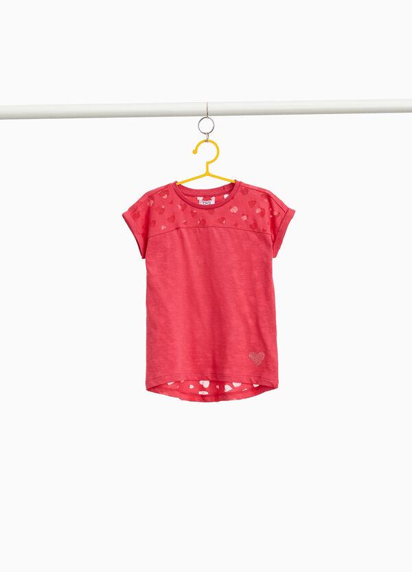 T-Shirt reine Baumwolle Muster Herzen