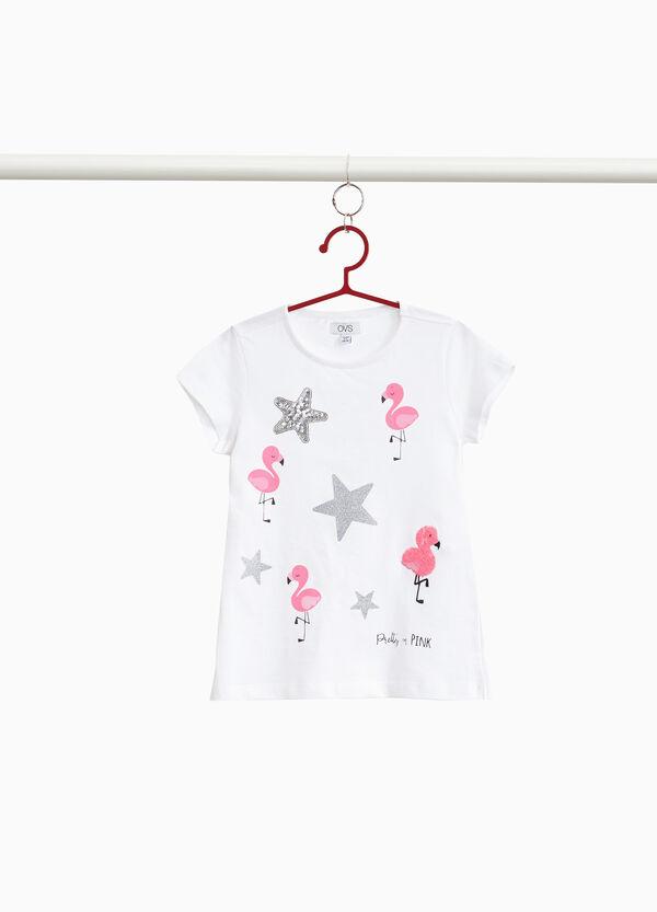 T-Shirt reine Baumwolle Flamingos und Sterne