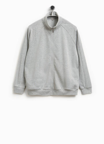 Sweatshirt aus Baumwolle mit Stehkragen Smart Basic