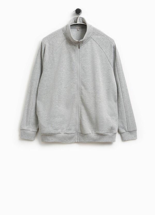 Sweatshirt aus Baumwolle mit Stehkragen Smart Basic | OVS