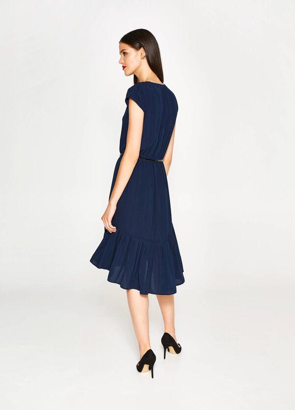 Kleid mit V-Boot-Ausschnitt und Volant | OVS