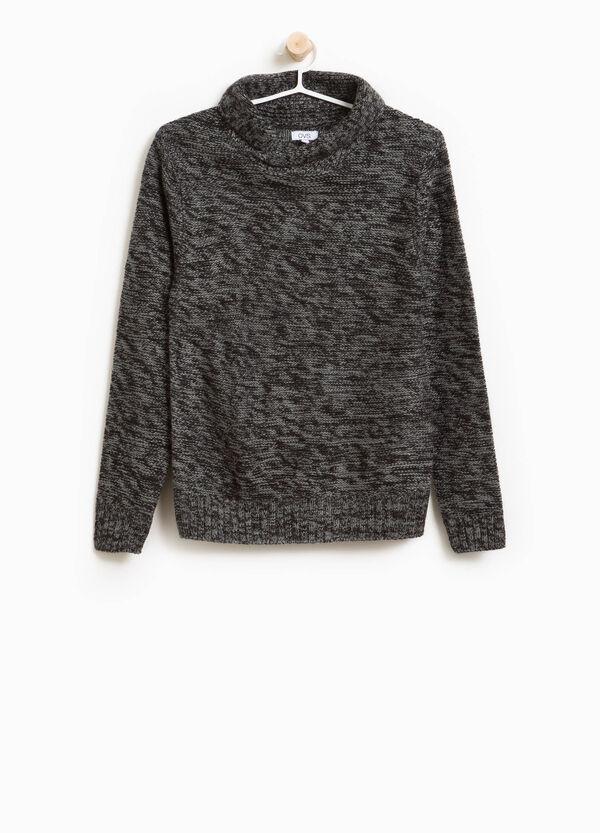 Pullover zweifarbig Trikot Schalkragen | OVS