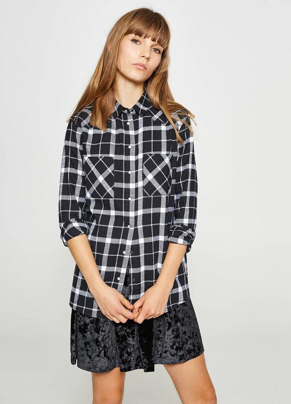 Hemd aus reiner Baumwolle Karomuster | OVS