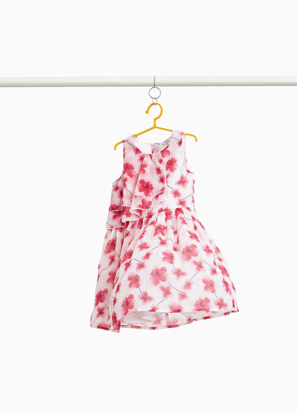 Ärmelloses Kleidchen floral Volant