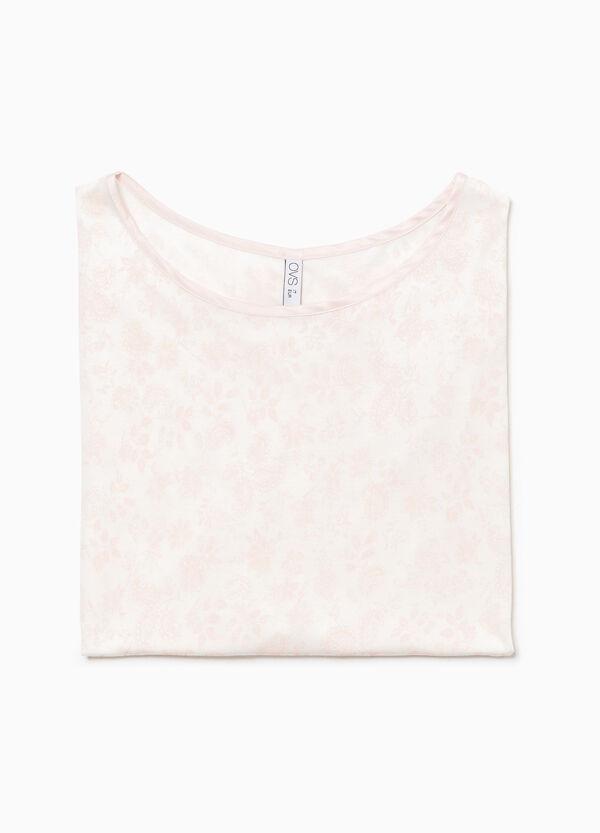 Pyjama-Shirt reine Viskose floral
