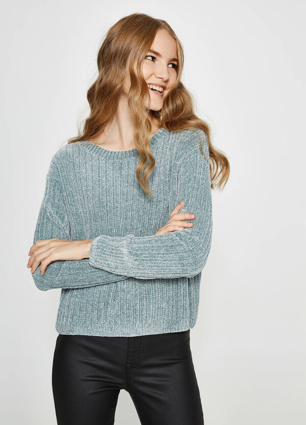 Einfarbiger Trikot-Pullover | OVS